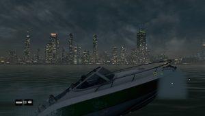 ボートから眺める夜の街