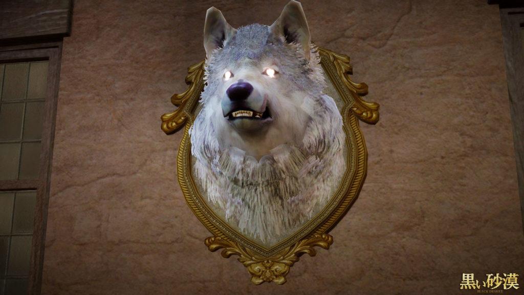 黒い砂漠白狼頭