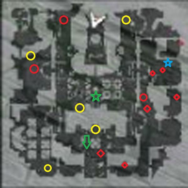 ROフェンリルとサラ宝箱マップ