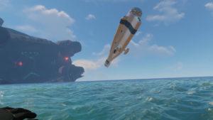 サイクロプス、空に浮く