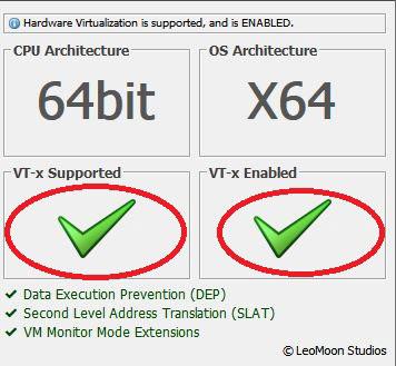 VT対応状況の確認画面、利用可能