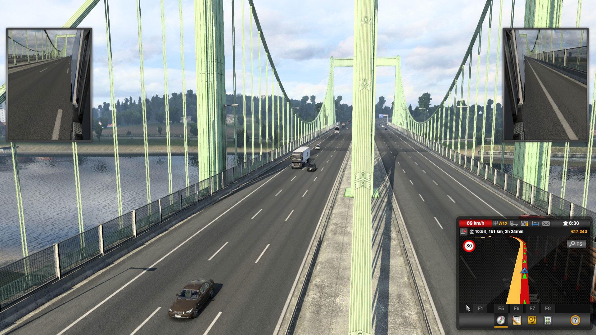 ETS2橋の上にて