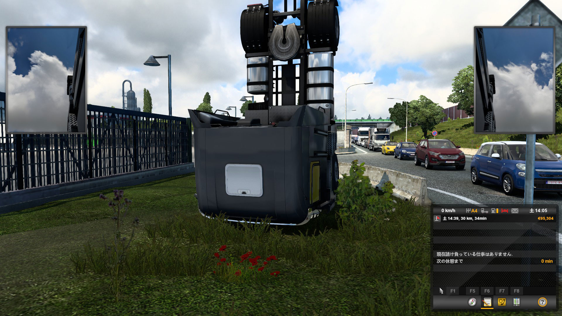 ETS2トラック倒立