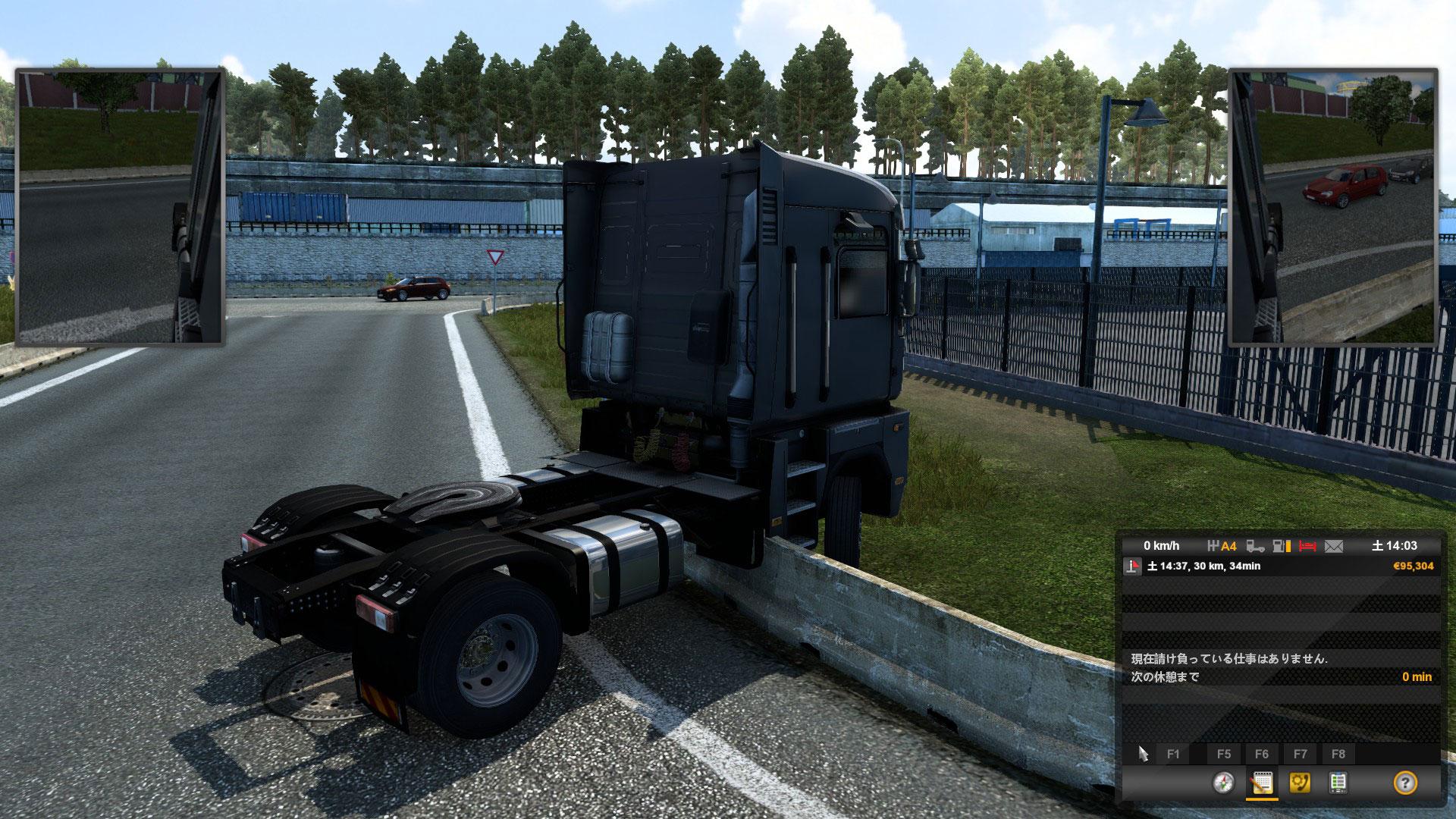 ETS2トラックがスタックした