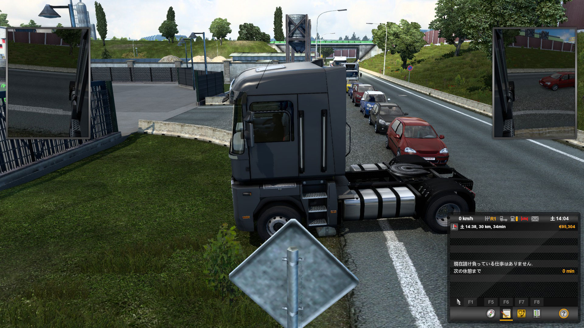 ETS2私のトラックのせいで大渋滞